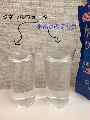 水素水とミネラルウォーターの比較