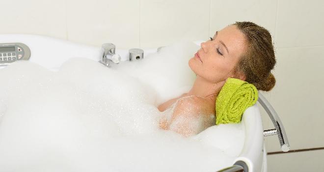 水素風呂で水素の吸収率アップ